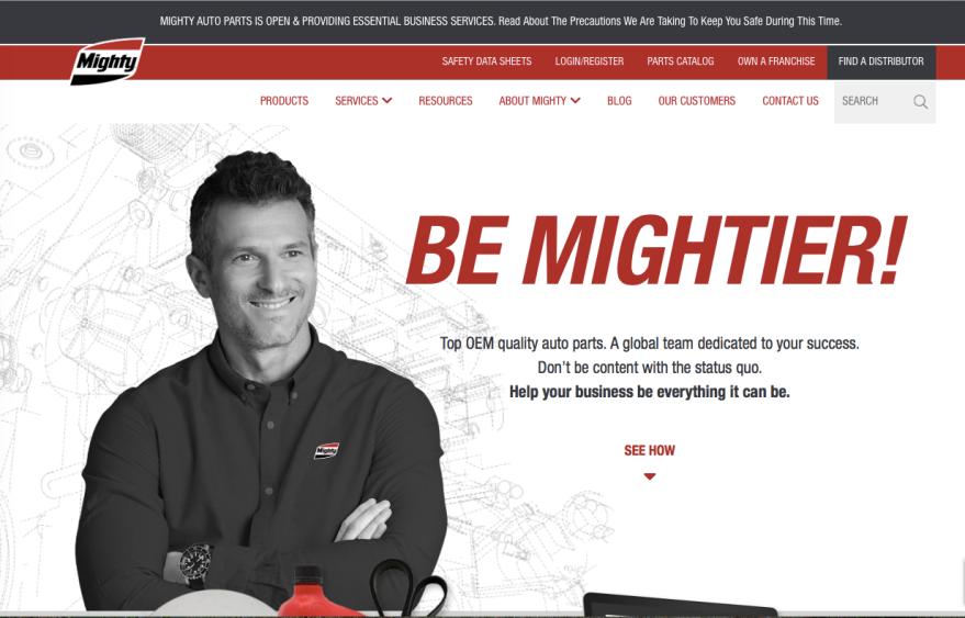 Mighty Home Page